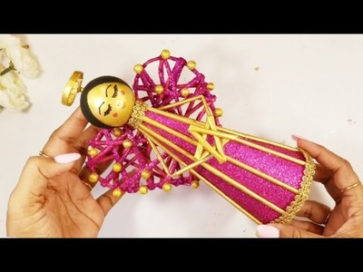 DIY Newspaper fairy doll | how to make a newspaper doll