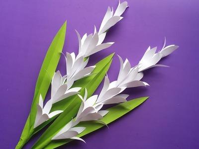 DIY: Paper Tuberose.Rajnigandha stick!!! How to Make Beautiful Paper Tuberose for Room Decoration!!!