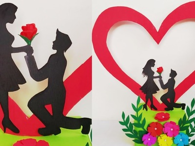 DIY Valentine's Day Special Gift Idea.How to Make Romantic Couple Showpiece for valentine's day