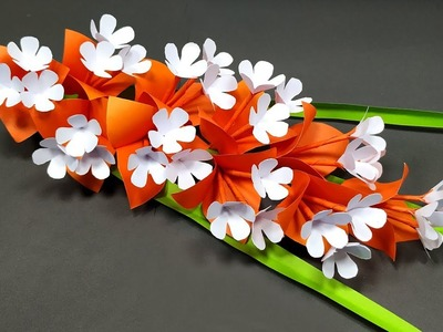 Flower with Paper: How to Make Flower with Paper | Stick Flower Tutorial | Jarine's Crafty Creation