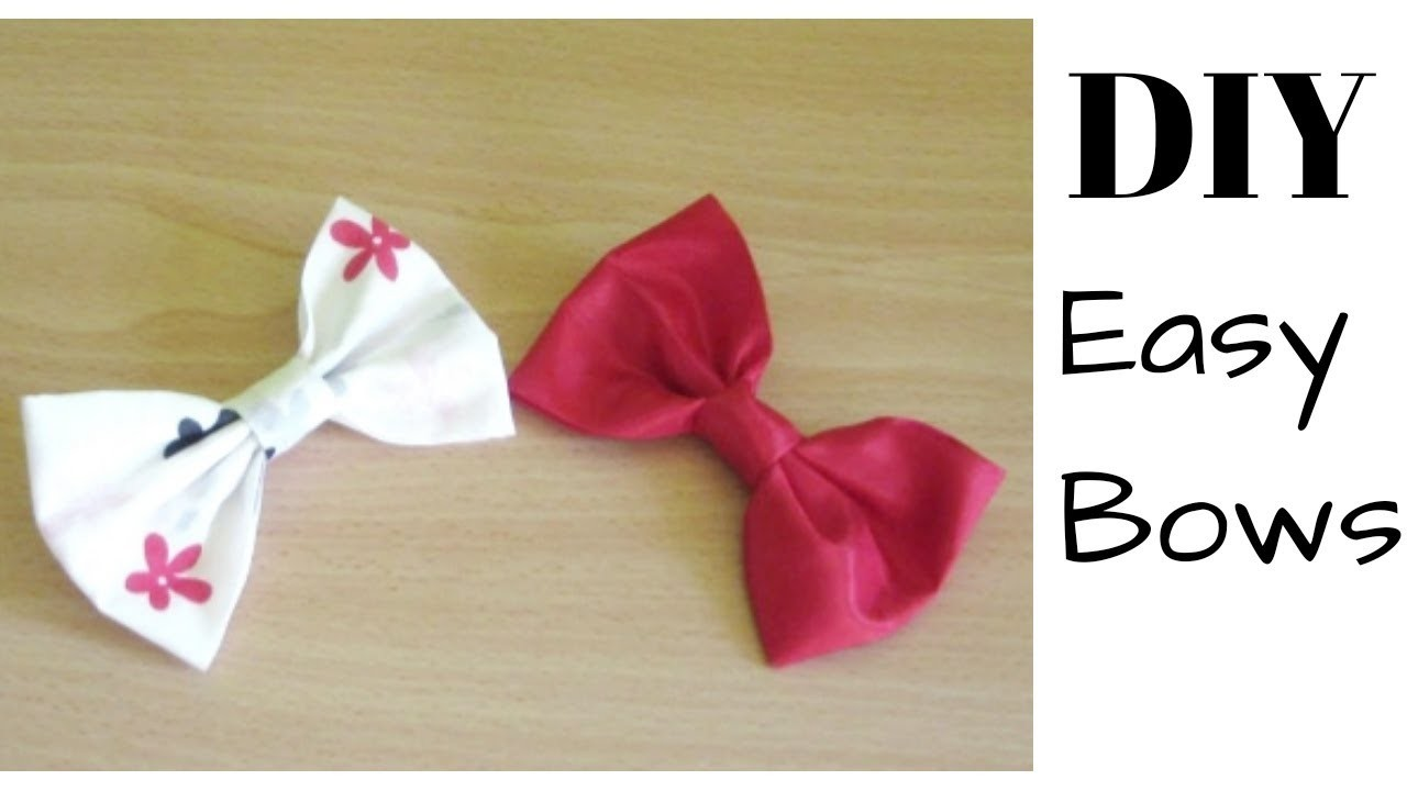 How to make a bow, DIY Easy bow making (DETAILED)
