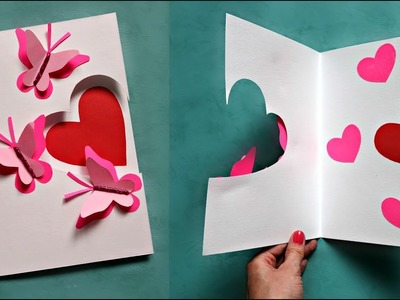 How to make a card for birthday, Mother's Day or Valentine's Day | Birthday card | Valentine Card
