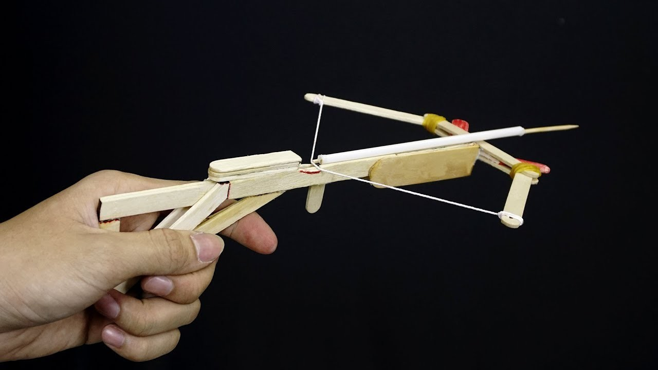 How to Make a Crossbow Gun At Home