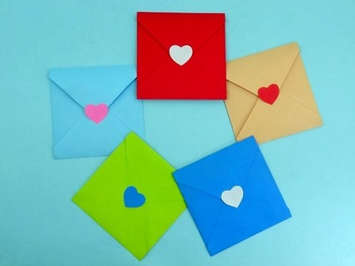 How To Make a Envelope For Valentine's Day With a Heart Knob | Paper Craft Ideas