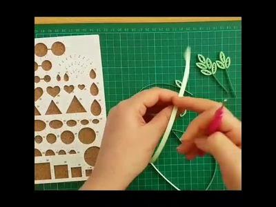 How to make a leaf ? Quilling leaf