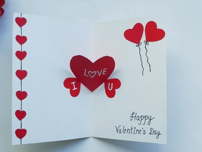 How to make Beautiful Handmade Valentine's Day Card | DIY Greeting Cards idea for Valentine's Day