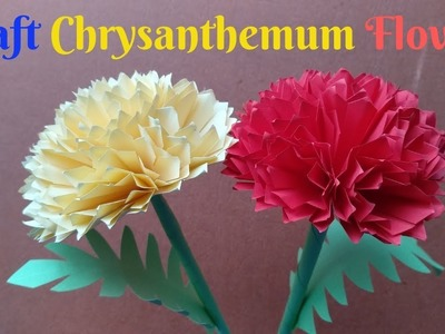 How To Make Chrysanthemum Flower From Paper | Making Flower Paper Step By Step