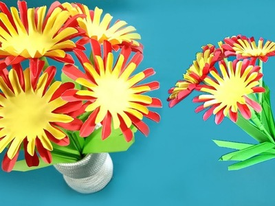 How to Make Flower with Paper | Step by Step Paper Flowers Making | DIY Paper Flowers