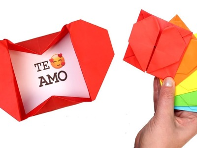 How to Make Heart Box Envelope | Easy Origami Pop Up Heart Envelope with Message for Valentine's Day