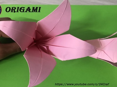 3D Origami Lily Flower V2 Tutorial | DIY Paper Lily Flower Home ... | 300x400