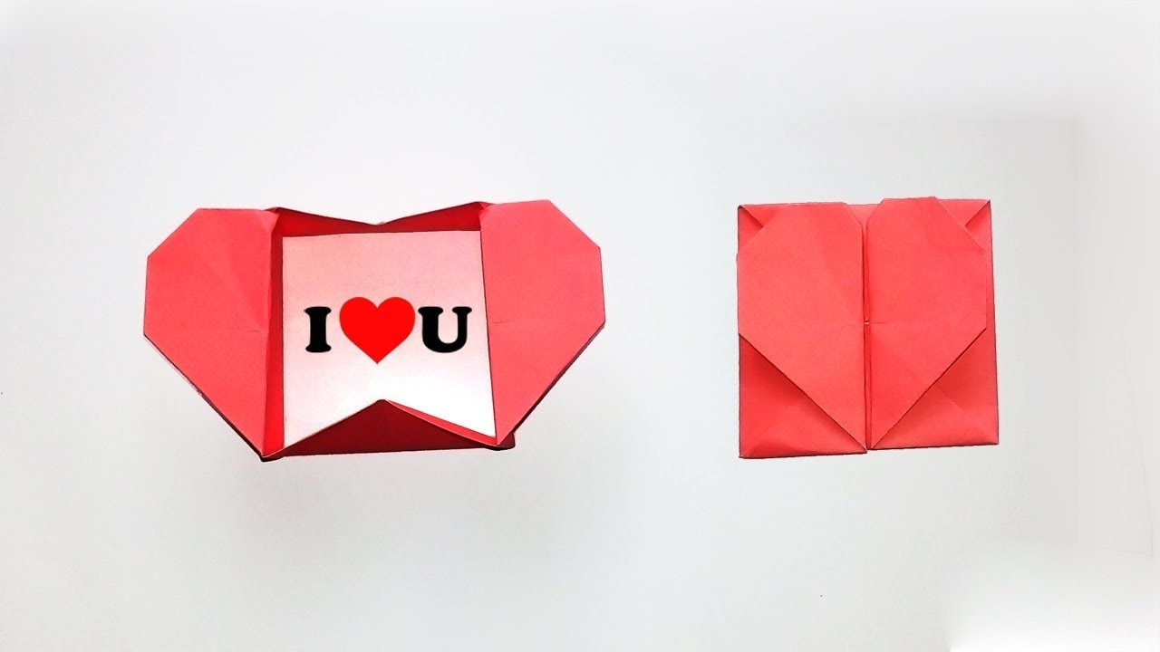 How To Make Paper Heart Envelope For Valentines Day Origami Heart