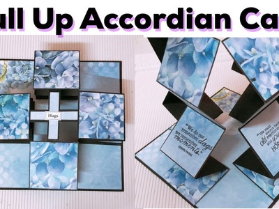 How to make pull up accordian card. DIY pull up accordian card