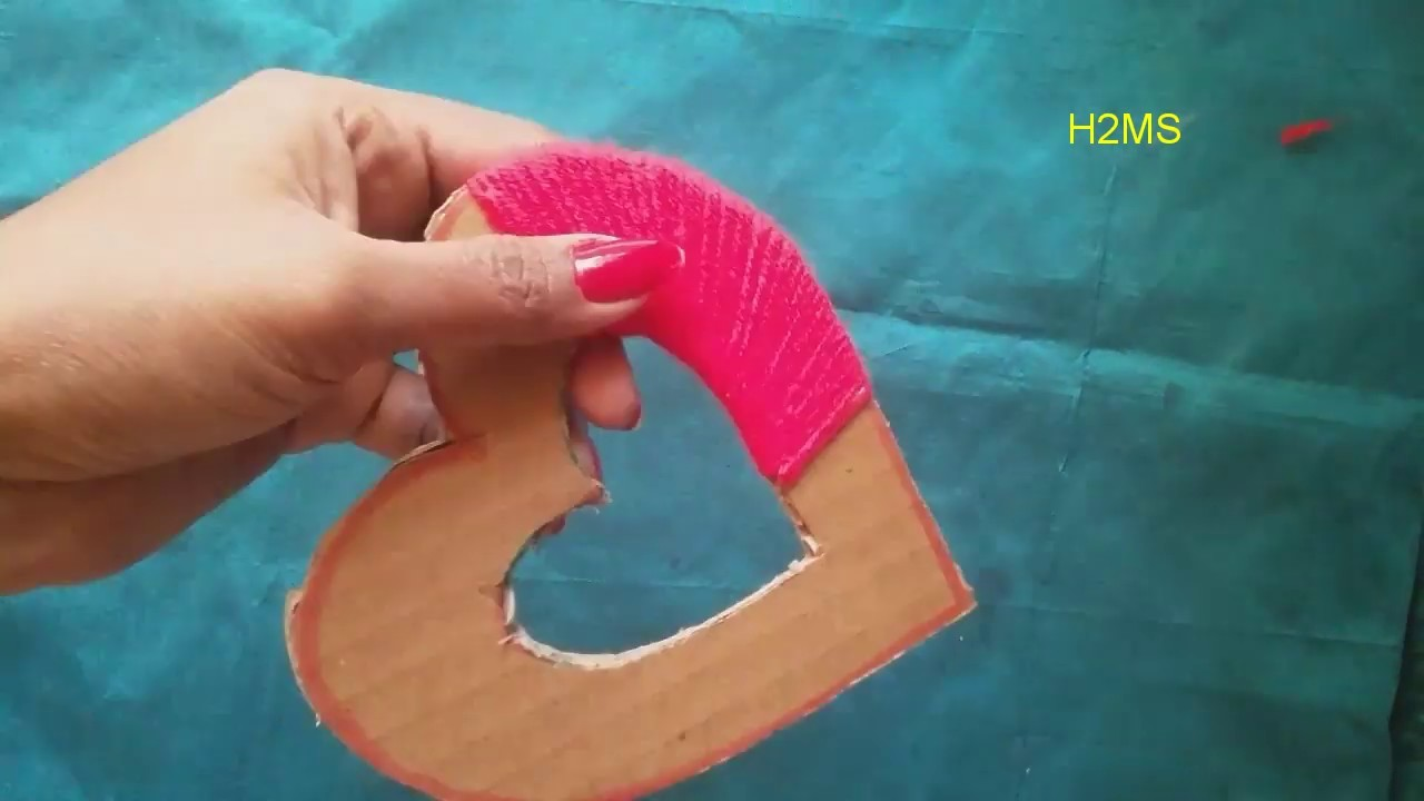 How to make simple and Best heart gift for Valentine's day,valentines day special woolen craft ideas