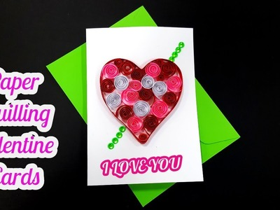 How to make valentine cards for boyfriend _ paper quilling greeting cards by art life