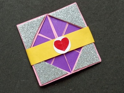 How To Make Valentine Day Card | Napkin Fold Card |  Scrapbook Card | Pop -Up Card | By AASHU'S ART