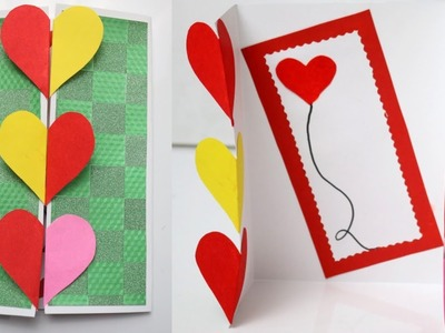 How to Make Valentine's day Hearts Card |Beautiful Handmade Love card For Valentines day