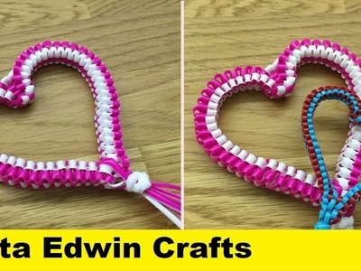 How to weave open heart  - Valentines day special
