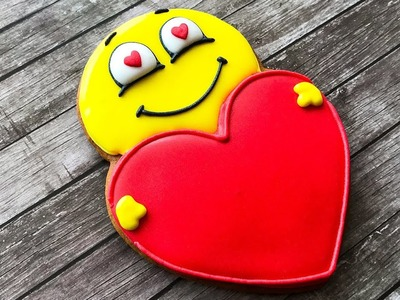 ???????? Love Emoji Cookies - Valentine's Day Heart Sugar Cookies - How To Decorate Sugar Cookies