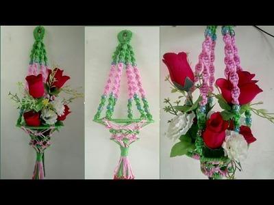 Macrame Flower Hanging. How to Make Macrame Flower Hanging