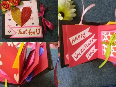 Mini Scrapbook for Valentines Day |How to Scrapbook - YouTube|Useful Creations. .