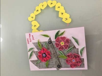 Quilling Beautiful Birthday Card. DIY Birthday Card idea.How to make Handmade Birthday Card