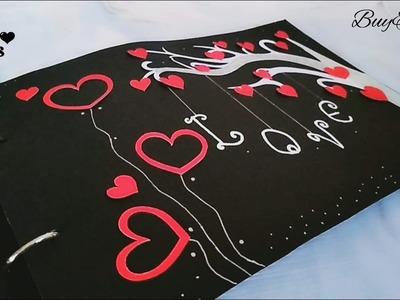 Scrapbook ????   Handmade   S Crafts   scrapbook ideas   anniversary scrapbook   Love theme gift idea