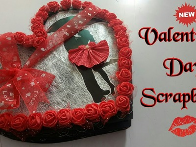 Valentine's Day Scrapbook || Couple Scrapbook ||Black n RED Scrapbook ||
