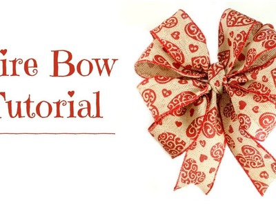 Wire Bow Tutorial - DIY How to Make a Bow for a Wreath - Hairbow Supplies, Etc.