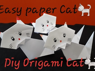 DIY easy paper cat making l how to make a paper cat easy step by step
