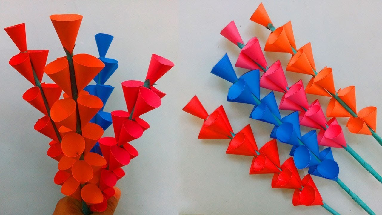 Diy Paper Flowers How To Make Paper Flowers Step By Step Easy