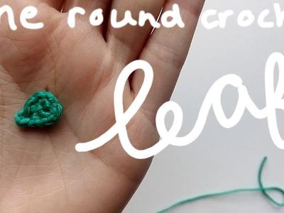 Free leaf pattern, made in one row | amigurumi crochet tutorial