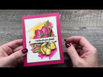 How to create EASY Watercolored Flowers and Background