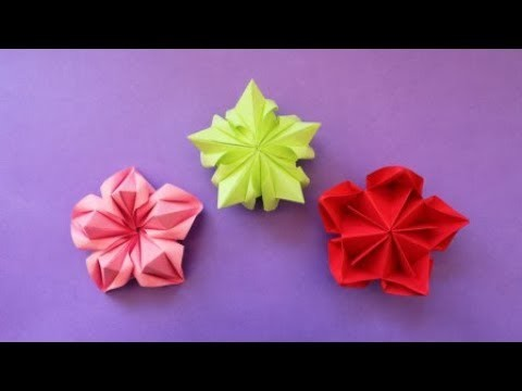 How To Make 3d Paper Flower Diy Paper Crafts Easy Origami Step By