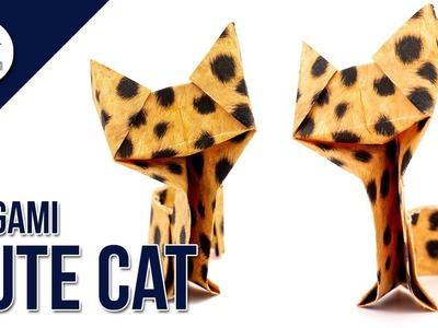 How to make a cute paper cat ???? - Origami Tutorial