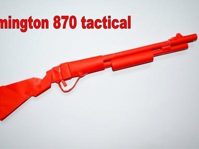 How to make a paper gun - Remington - DIY