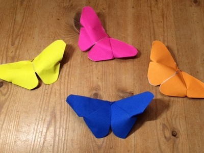 How to make a perfect paper butterfly -super easy