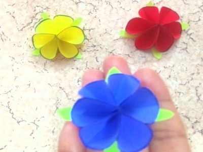 How to make a Tiny Rose using Origami Paper || Paper Rose || Crazy Crafts