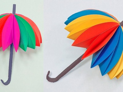 How to Make an Amazing Umbrella With Color Paper | DIY Paper Decor For Kids