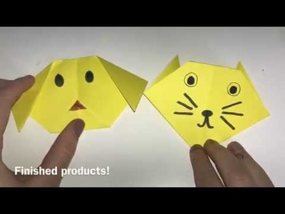 HOW TO MAKE AN ORIGAMI CAT AND DOG! | Selected Crafts