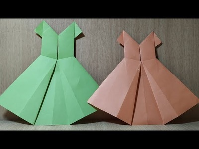 How to make an origami paper dress ???????? Easy Origami ????????Easy Paper Crafts
