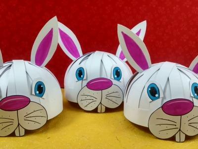 How to make animal mask l How to make rabbit mask l Diy paper hat mask