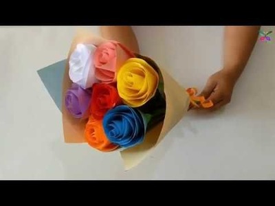 How To Make Beautiful Flower Rose  By Paper DIY.