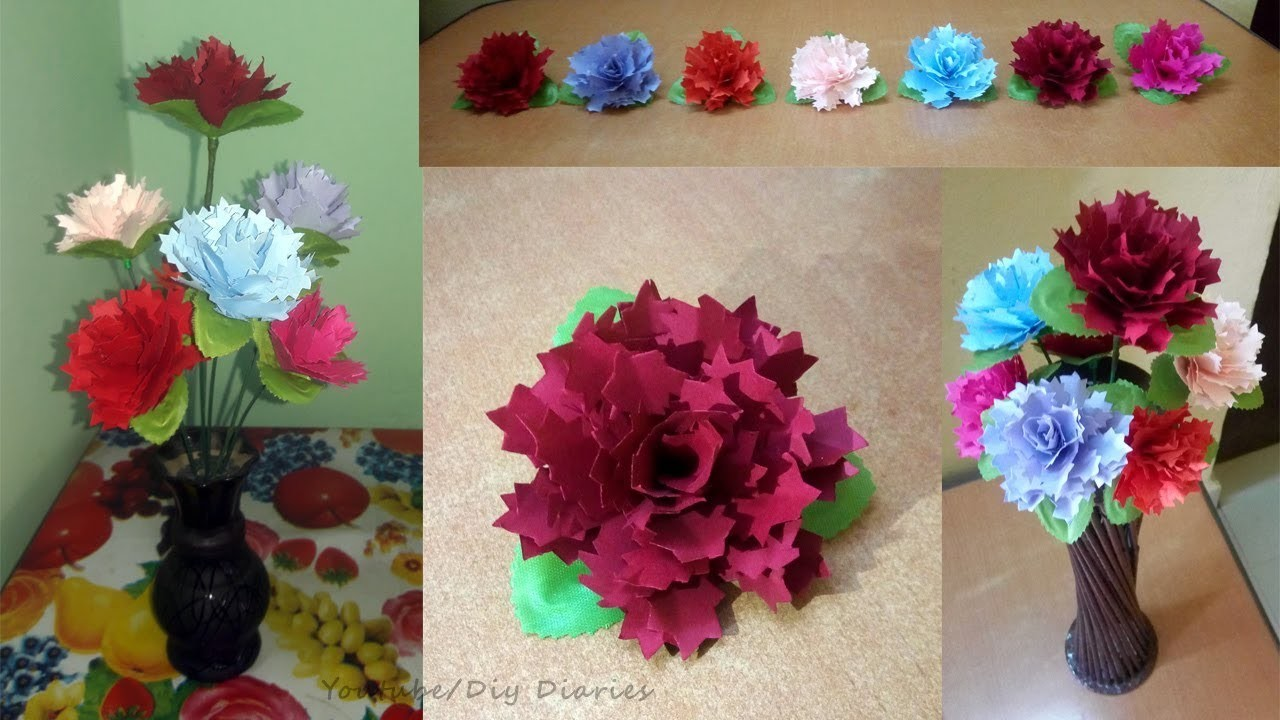 How To Make Beautiful Paper Flowers Diy Easy Paper Flowers Step By