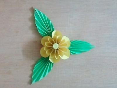 How to Make Blumen aus papier    DIY paper flower by Crafty Sohag