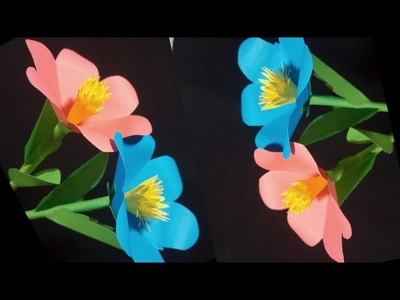 Art Papercraft How To Make A Flower Vase At Home Diy Simple