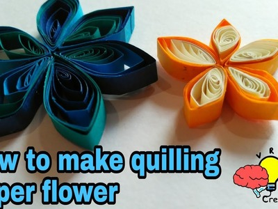How to make colourful quilling paper flowers | Crafts and DIY ideas by VRJ Creativity