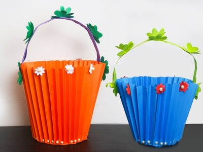How to Make Easy Accordion Paper Basket for Chocolates