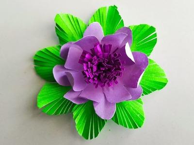 How to make easy paper flower. Diy paper flower. paper flowers. Paper flower for decoration