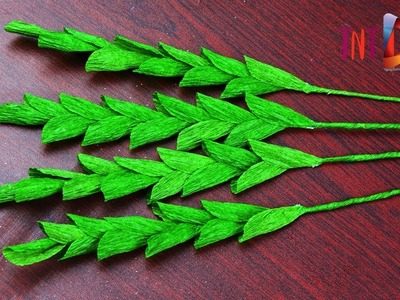 How To Make layered Leaf from Crepe Paper | Easy DIY Paper Leaf