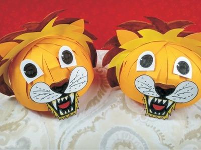 How to make lion mask l How to make paper mask l Diy animal hat mask l Animal mask